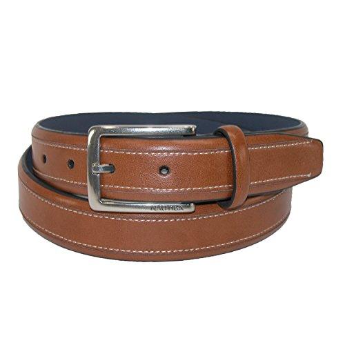 nautica-mens-leather-125-inch-contrast-stitch-belt-42-tan