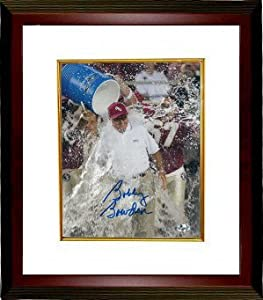 Bobby Bowden signed Florida State Seminoles 16x20 Photo Powerade Custom Framed by Athlon+Sports+Collectibles