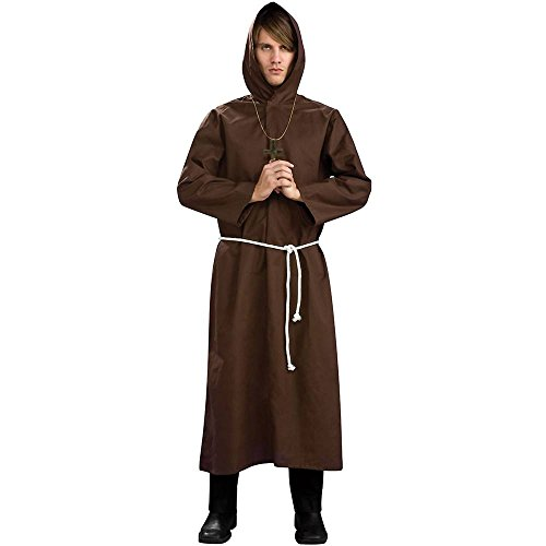 Brown Monk Robe Plus Size Costume - X-Large