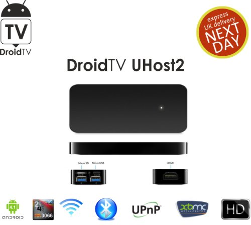 DroidTV UHOST2 Dual Core RK3066 1.6GHZ ANDROID TV BOX MINI PC 1G RAM 4G ROM WITH BLUETOOTH SKYPE XBMC BLACK Black Friday & Cyber Monday 2014