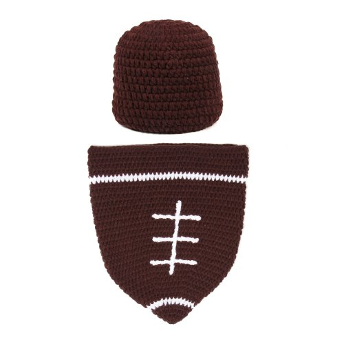 Touch Baby Football Cocoon With Beanie Hat Set Photography Photo Props Brown front-509103