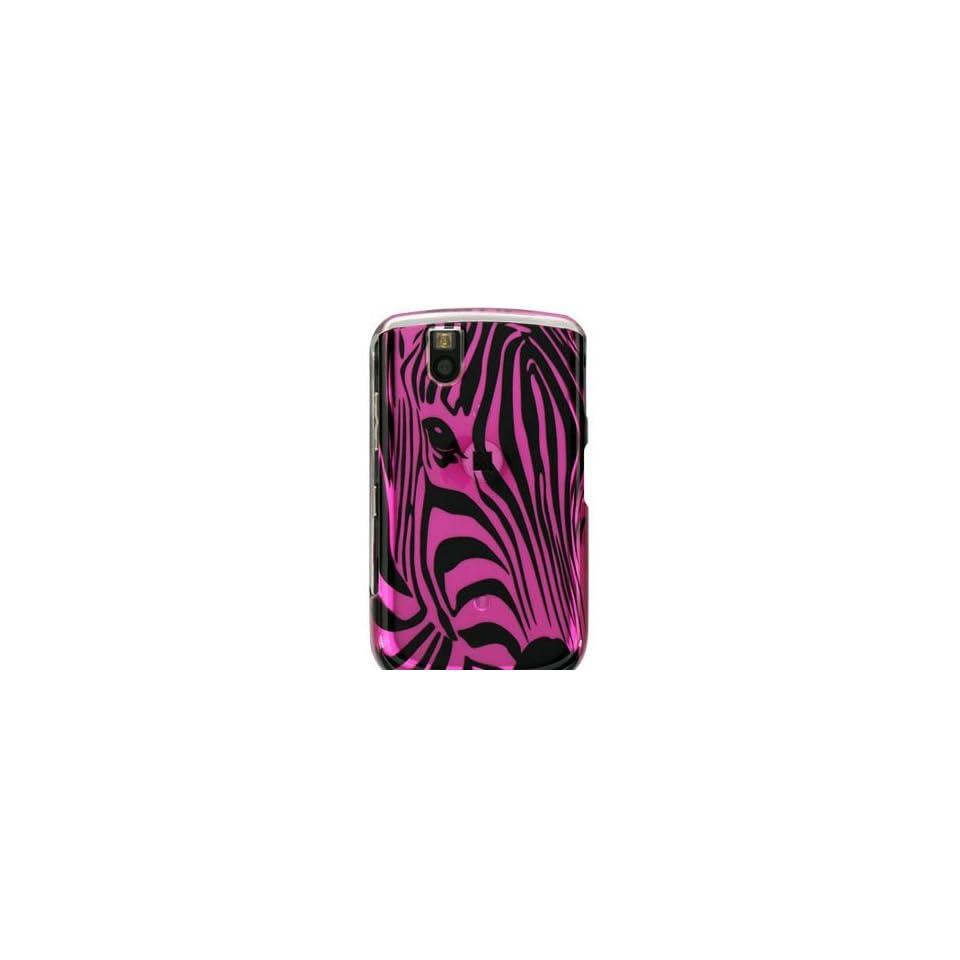 NEW PINK ZEBRA SKIN FACE HARD CASE COVER FOR BLACKBERRY TOUR 9630 BOLD 9650