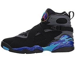 Nike Jordan Kids Jordan Air Jordan 8 Retro Bg Black/Tr Rd/Flnt Gry/Brght Cncr Basketball Shoe 5 Kids US