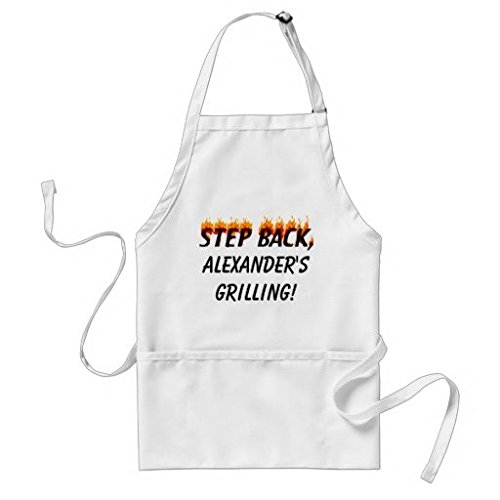 Sunningq Step Back Personalized Grilling Bbq Apron