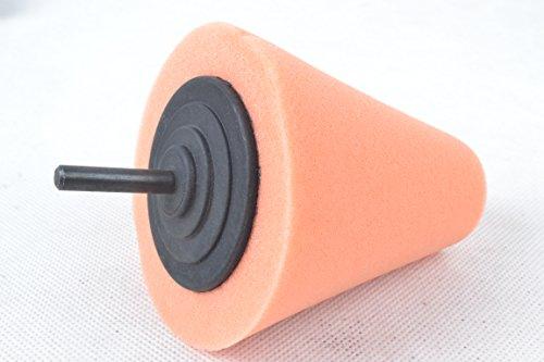 Sponge Cone Metal Polishing Foam Pad Car Wheel Hub Care Polish Tool T40 Orange (Drill Buffer Cone compare prices)