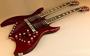Bc Rich Bich Double Neck B612trhc 6 12 String Electric Guitar w/ Case