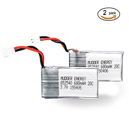 Mudder Upgraded 680mAh 3.7V Lipo Rechargeable Battery for Syma X5C X5SC X5SW Quadcopter with Integrated Protection Circuit - 1