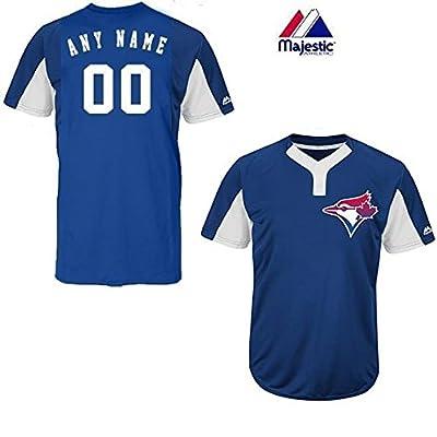 Royal/White 2-Button Cool-Base Toronto Blue Jays Blank or CUSTOM Back (Name/#) MLB Officially Licensed Baseball Placket Jersey