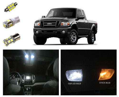 Ford Ranger LED Package Interior + Tag + Reverse Lights (8 pieces)