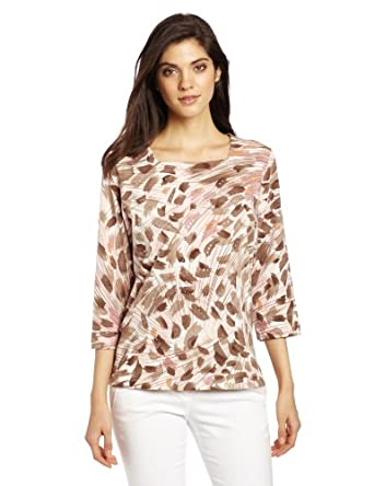 Alfred Dunner Women's Animal Swirl T-Shirt, Multi, Medium