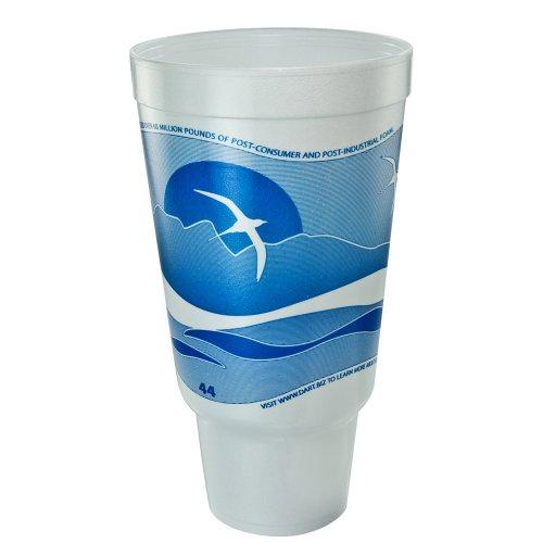 dart-44aj32h-horizon-flush-fill-foam-cup-hot-cold-44-oz-ocean-blue-white-15-bag