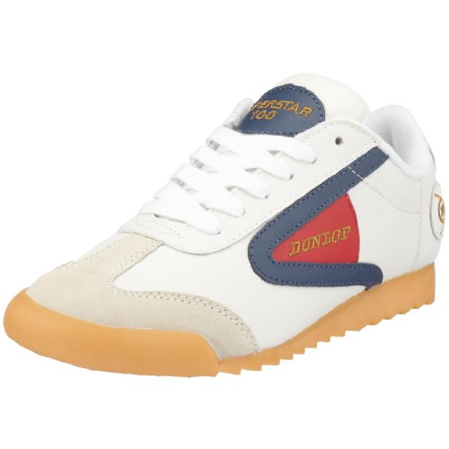 Dunlop Unisex - Adult Superstar 100 Trainers White Weiss/white/royal/red Size: 47