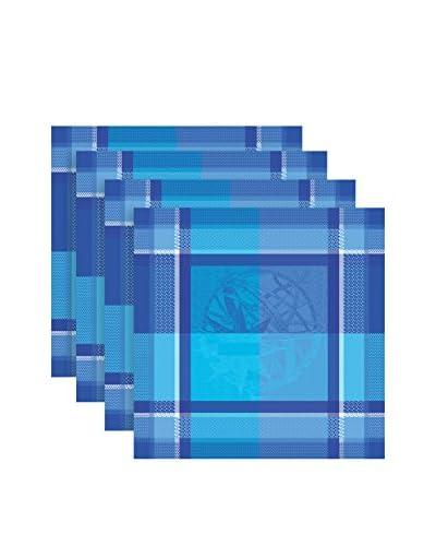 Garnier-Thiebaut Marie Galante Set of 4 Napkins, Turquoise