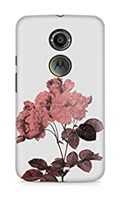 Amez designer printed 3d premium high quality back case cover for Motorola Moto X (2nd Generation) (Rose)