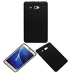 Acm Dotted Soft Silicon Back Case For Samsung Galaxy J Max Tablet Premium Cover Black