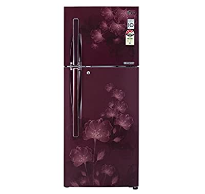 LG GL-D292JSFL Frost-free Double-door Refrigerator (258 Ltrs, 4 Star Rating, Scarlet Florid)