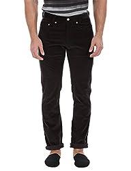 Zobello Men's Stretchable Travel Corduroy Pants(31093B19_Dark Deep Port_30)