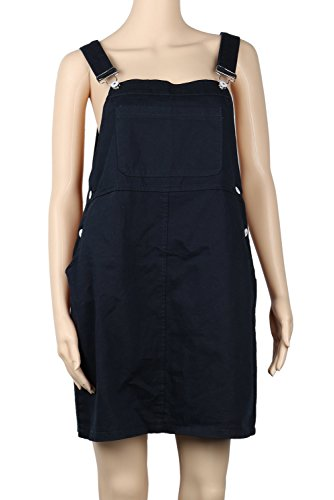 Womens Jeans Loose Suspender Skirt Plus Size Overall Dress