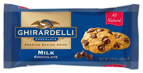 Ghirardelli Chocolate Baking Chips, Milk Chocolate, 11.5-Ounce Bags (Pack of 6)