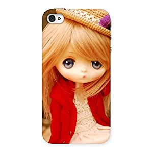Delighted Tiny Bride Girl Multicolor Back Case Cover for iPhone 4 4s