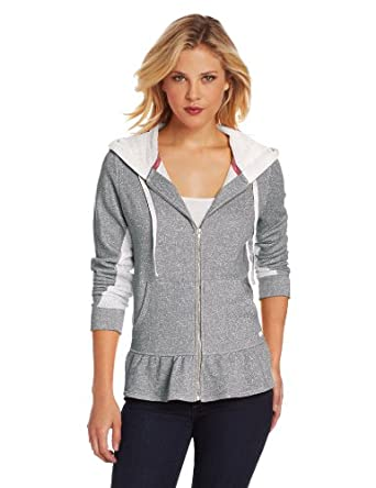 Kensie Women's Weekend Warmup Lounge Hoodie, Dark Grey Heather, X-Large