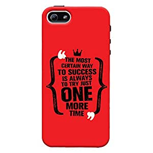 ColourCrust Apple iPhone 5 Mobile Phone Back Cover With Success Motivational Quote - Durable Matte Finish Hard Plastic Slim Case