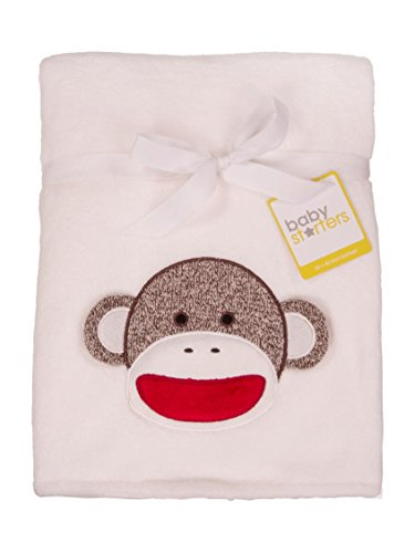 Baby Girl Sock Monkey Coral Plush Boa Blanket by Baby Starters - Ivory - Not Applicable (Baby Starters Lovey compare prices)