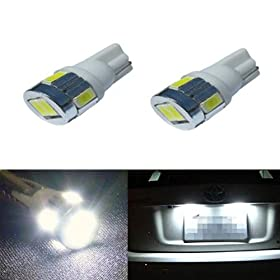 JDM ASTAR Extremely Bright 5730 SMD 194 168 2825 W5W T10 LED Bulbs,Xenon White(Brightest T10 Bulb in the market)