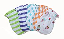 5 Pairs Mix Color Cotton Newborn Baby/infant No Scratch Mittens Gloves 0-3 Months