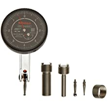 "Mitutoyo Dial Test Indicator, Basic Set, Tilted Face, Inch, 0.375"" Stem Diameter"