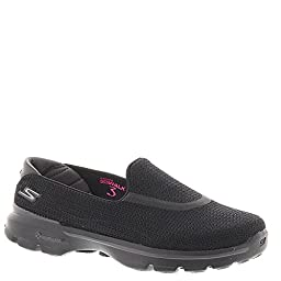 Skechers Performance Women\'s Go Walk 3 Slip-On Walking Shoe,Black,11 Xw US