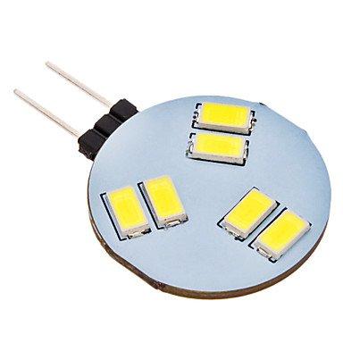 G4 1.5W 6X5630Smd 120-150Lm 6000-6500K Natural White Light Led Spot Bulb (Ac 12V)