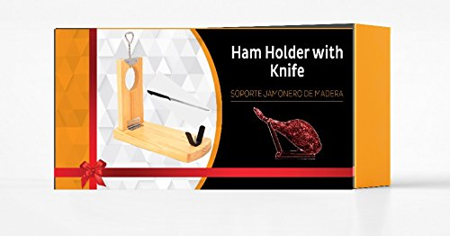 h07 QUALITY Professional serrano iberian ham stand Gondola rack holder FOLDABLE + FREE Knife - gift idea BOXED