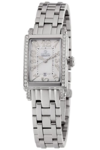 Gevril Women's 8249NEB Super Mini Quartz White Mother of Pearl Diamond Watch