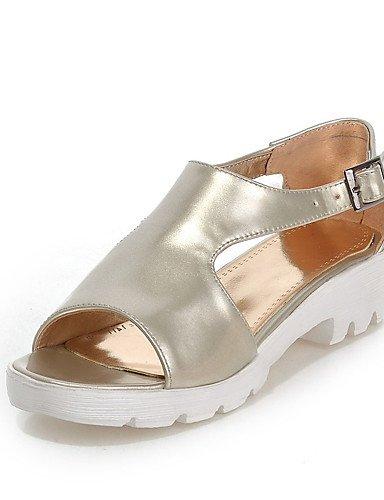zapatos-de-mujer-tacon-bajo-punta-abierta-sandalias-casual-semicuero-rosa-plata-oro-golden-us8-eu39-