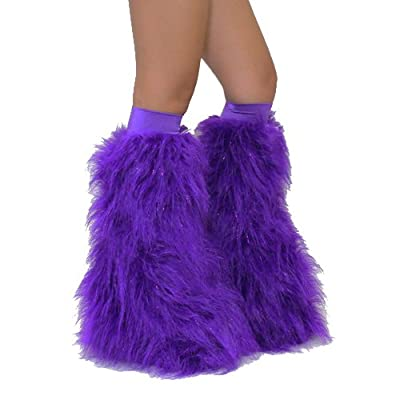 Rave Furry Legwarmers-Leg Fuzzies For Ravers