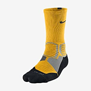 NIKE Hyper Elite Basketball Crew Socks - L - Laser Orange/Black