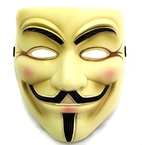 Oramics® VENDETTA Maske Mask Guy Fawkes Anonymous Replika Demo Anti -Karneval Maske Anti Acta Demo