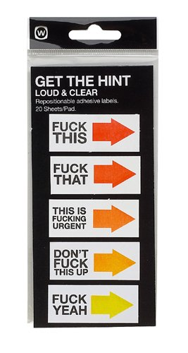 NPW-USA Loud and Clear Get the Hint Sticky Note Tags