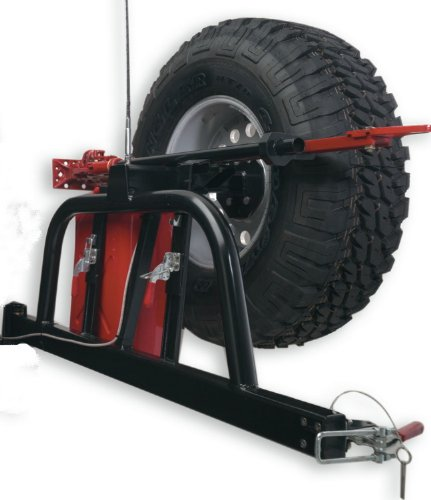 Body Armor 4x4 5292Black - Steel Swing Arm Tire and Can Carrier for TJ-2993 - 1997-2006 Jeep TJ