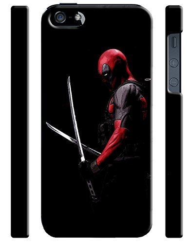 Deadpool, Other Characters & Emblems for Iphone 5 5s Hard Case Cover (Zbor17) (Superman Clip compare prices)