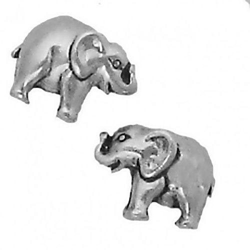 Cm Sterling Silver Earrings Elephant Posts Studs Tiny Mini