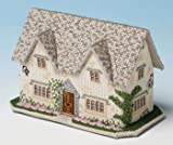 The Nutmeg Company Windrush Cottage 3D Cross Stitch Kit