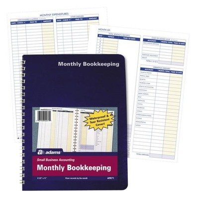 ABFAFR71 – Adams Monthly Bookkeeping Record
