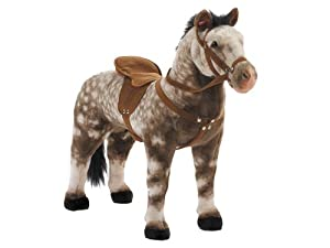 Happy People 58933 - Thoroughbred Horse Apple Grey with Sound, Standing, Loading Capacity approx. 100 kg