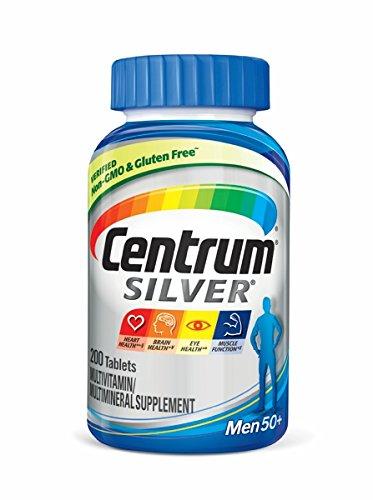 센트룸 50세 이상 남성용 종합비타민 Centrum Silver Multivitamin Supplement