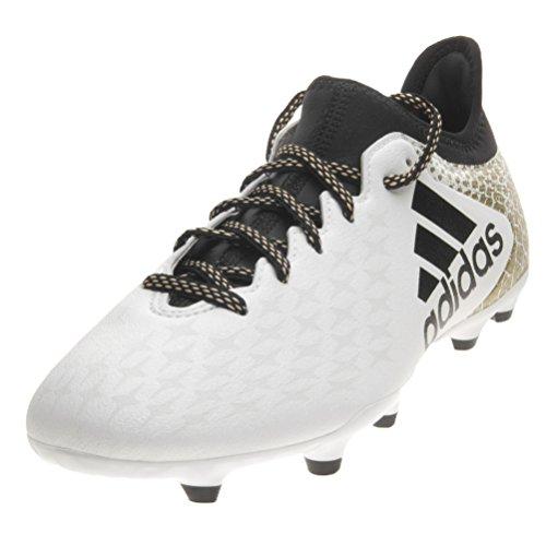 Adidas X 16.3 Fg, Scarpe da Calcio Allenamento Uomo, Multicolore (Ftwwht/Cblack/Goldmt), 40 2/3 EU