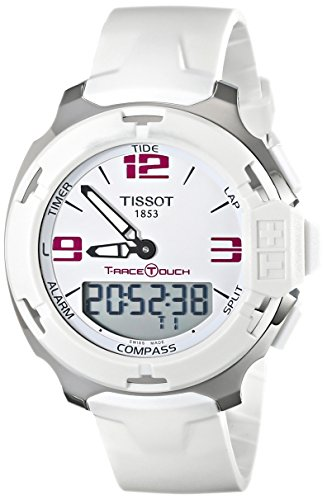 Tissot T081.420.17.017.00 - Mouvement Cristal de roche - Affichage Analogique - Digital - Montre à bracelet Caoutchouc Blanc et Cadran Blanc - Mixte