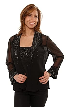 The Evening Store 2PC Cami and Jacket Hand Beaded (3X)