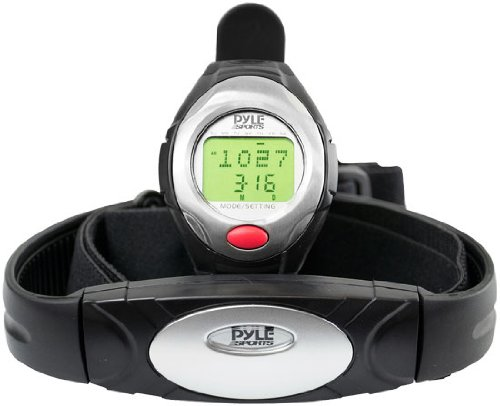 Pyle  Sports PHRM40 One Button Heart Rate Watch with 3D Running/Walking Sensor
